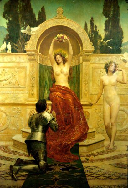 Картина Джона Коллиера к опере «Тангейзер»