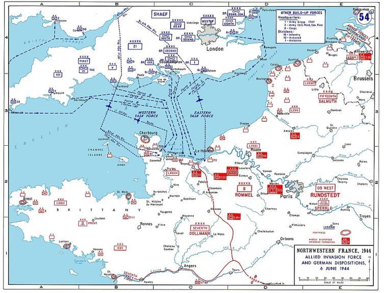 План высадки в Нормандии 6июня 1944 г.