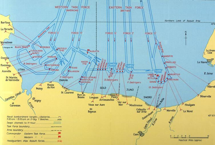 Уточненный план высадки Союзников в Нормандии.