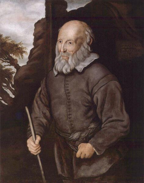 Портрет Томаса Парр. Неизвестный художник