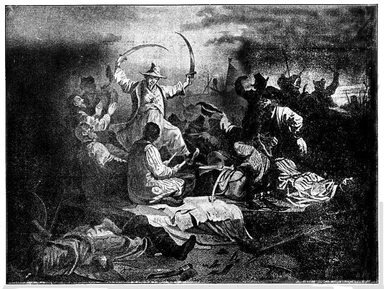 Татары, пирующие после битвы на Калке Рисунок Н. А. Кошелева из статьи «Калка», «Военная энциклопедия Сытина»