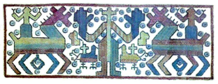Узор с калужской вышивки. Из фондов Белгородского музея народной культуры