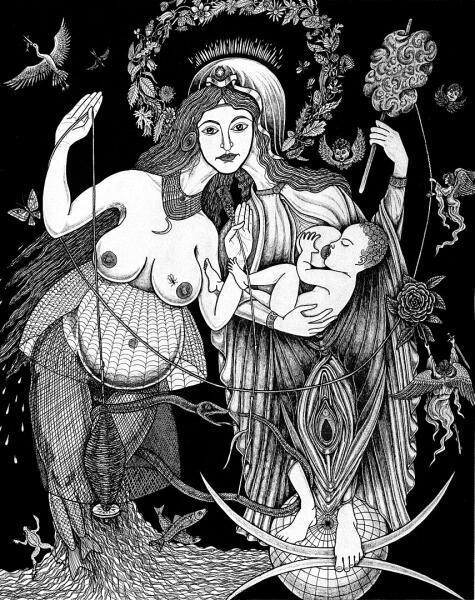 Макошь (Мокошь) - покровительница прядения