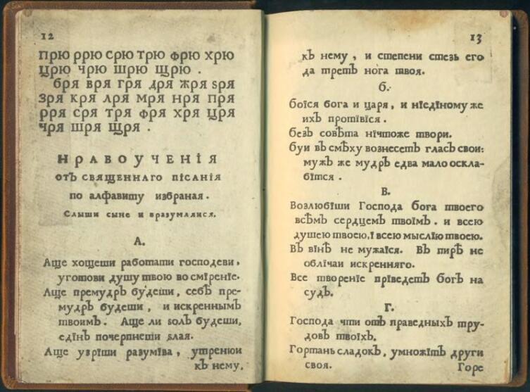 Один из разворотов книги