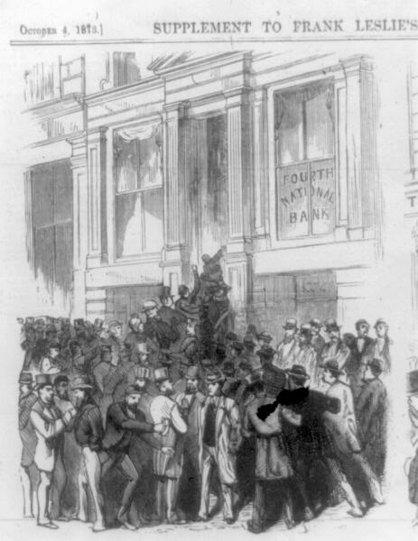 Паника у банка, Fourth National Bank, Нью-Йорк, 1873 г.