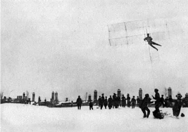 Полёт на планёре студента ИМТУ Андрея Туполева, 1910 г.