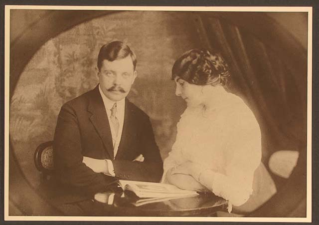 С. Панкреев с будущей женой, 1910 г.