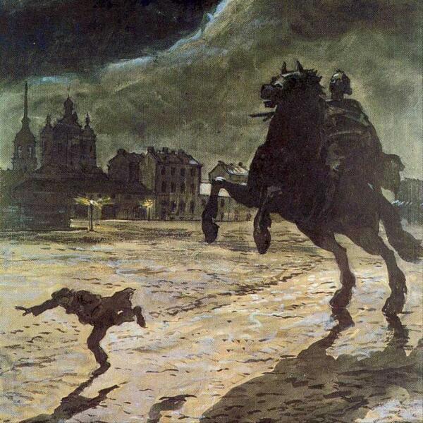 Иллюстрация к поэме А. С. Пушкина «Медный всадник»