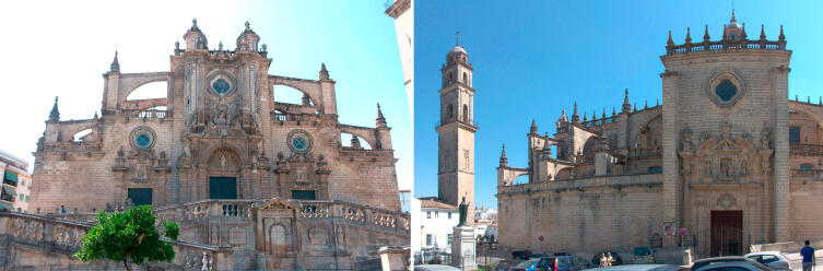 Кафедральный собор, колокольня, памятник Папе Иоанну Павлу II