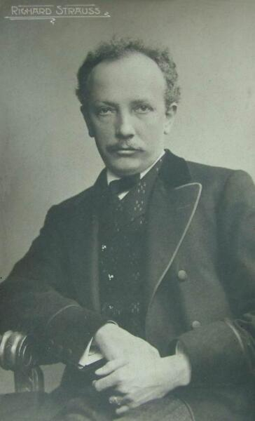 Рихард Штраус в возрасте 40 лет. Почтовая открытка. 1910 г.