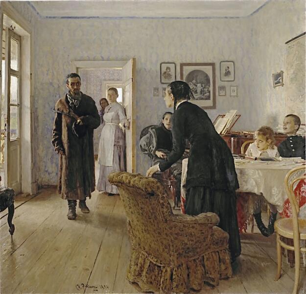 И. Е. Репин, «Не ждали», 1884 г.