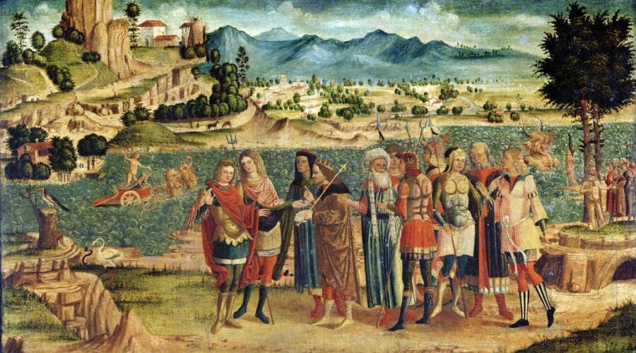 Неизвестный художник, «Лаомедон отказывает Аполлону и Посейдону в их награде», 1500 г.
