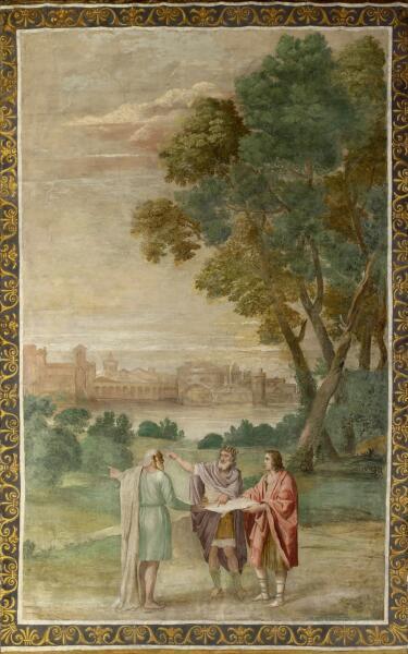 Мастерская Доменикино, «Аполлон и Нептун советуются с Лаомедоном»