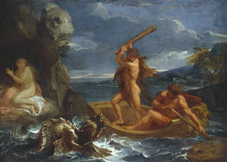 Шарль Лебрен, «Геракл спасающий Гесиону», 1655 г.