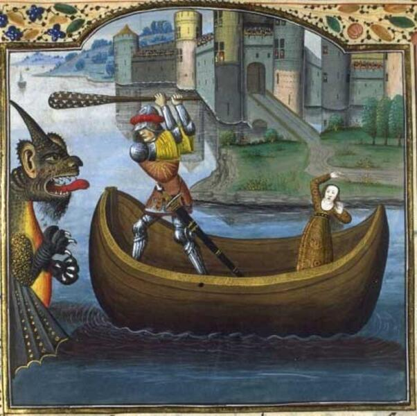 Рауль Лефевр, «Геракл и Гесиона», иллюстрация к «История Трои», ΧѴ век