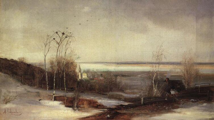 А. К. Саврасов, «Ранняя весна. Дали», 1870-е гг.