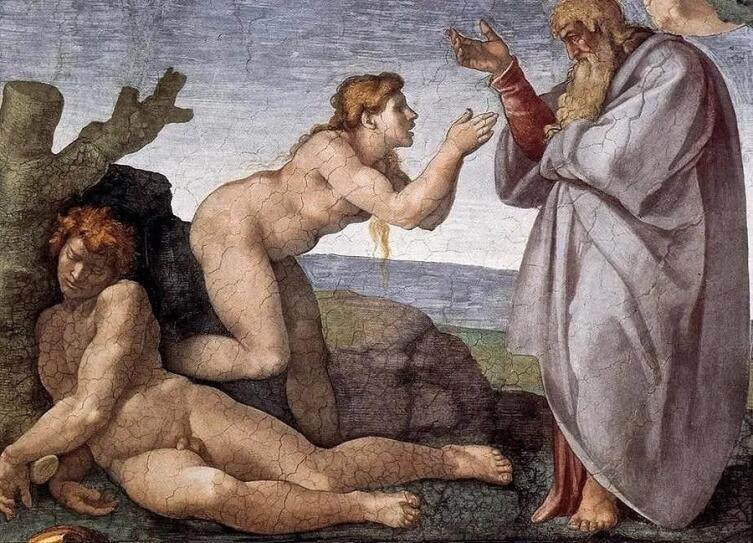 Микеланджело Буонарроти, «Сотворение Евы» (фрагмент), 1510 г.
