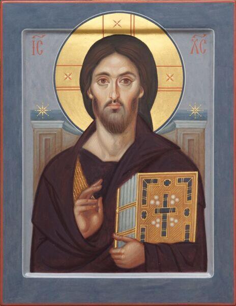 «Синайский Спас», VI век, древнейший образ Христа-Пантократора (копия)
