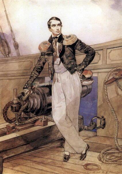 К. П. Брюллов, «В. А. Корнилов на борту брига «Фемистокл»», 1835 г.
