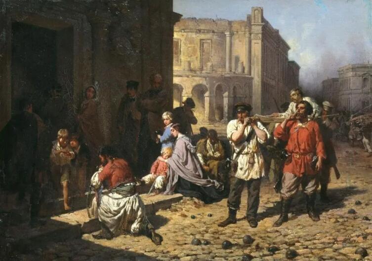 К. Н. Филиппов, «В осажденном Севастополе», 1864 г.