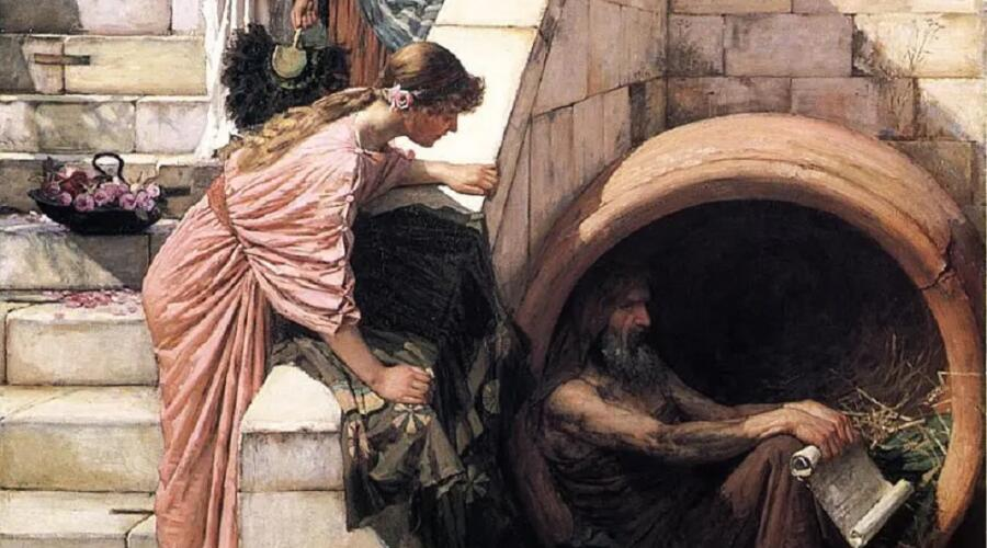 Джон Уильям Уотерхаус, «Диоген» (фрагмент), 1886 г.