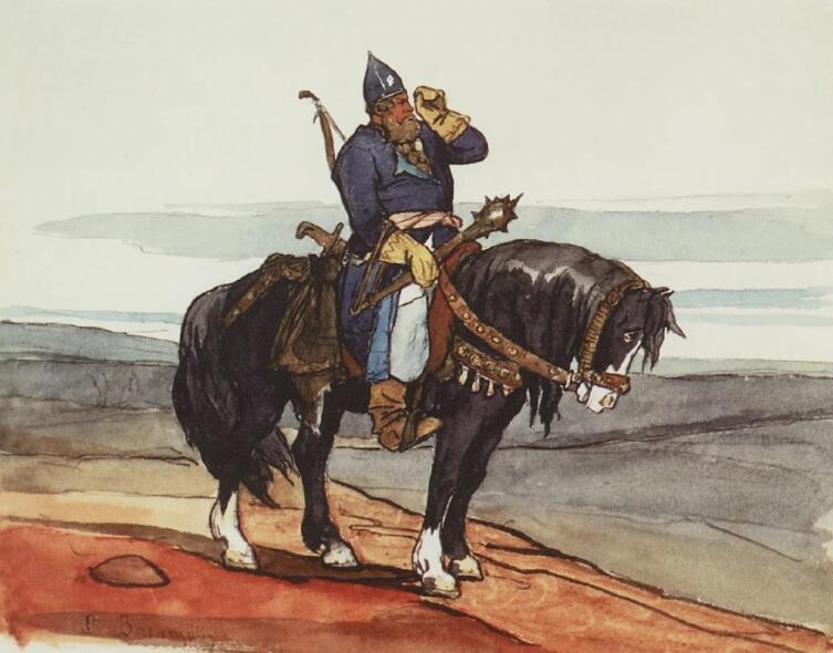 В. М. Васнецов, «Богатырь», 1870-е гг.