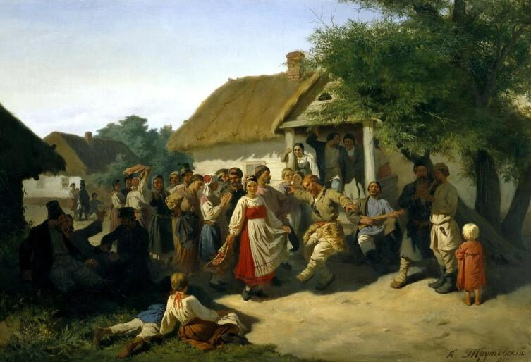 К. А. Трутовский, «Хоровод в Курской губернии»