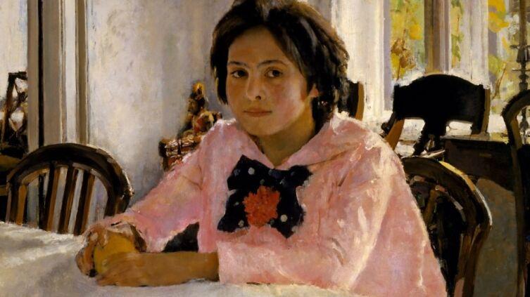 В. А. Серов, «Девочка с персиками (Портрет В. С. Мамонтовой)» (фрагмент), 1887 г.