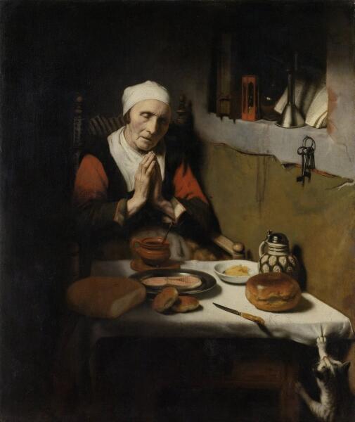 Николас Мас (Маес), «Старая женщина за молитвой (Бесконечная молитва)», 1656 г.