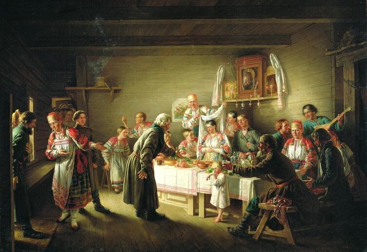 Н. П. Петров, «Смотрины невесты», 1861 г.
