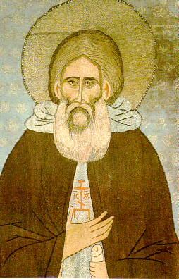 Изображение св. Сергия Радонежского на покрове XV века