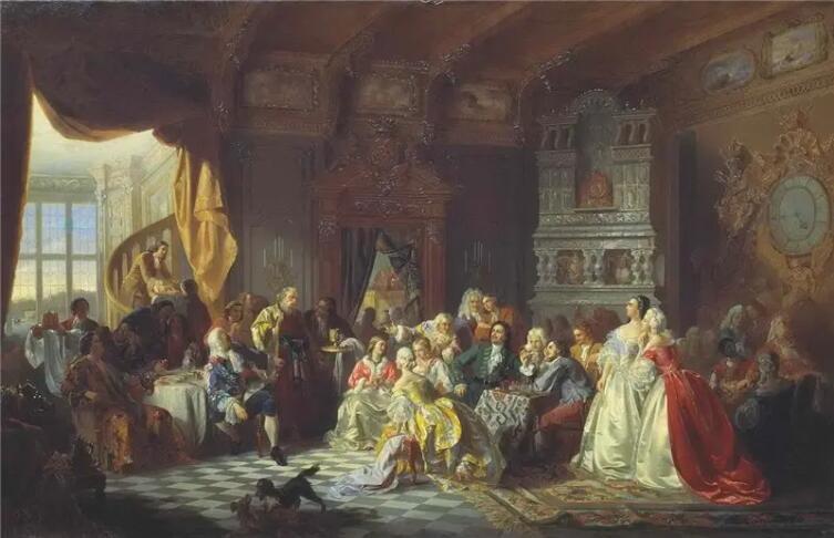 Станислав Хлебовский, «Ассамблея при Петре І», 1858 г.