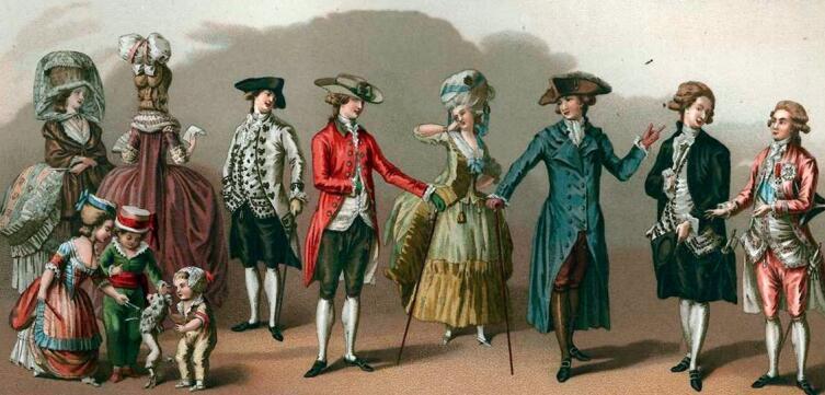 Иллюстрация - мода и стиль XVII-XVIII вв.