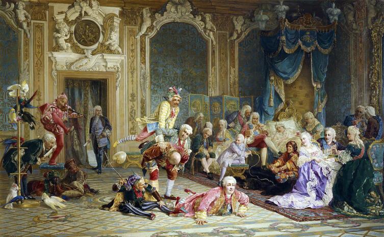 В. И. Якоби, «Шуты при дворе императрицы Анны Иоанновны», 1878 г.