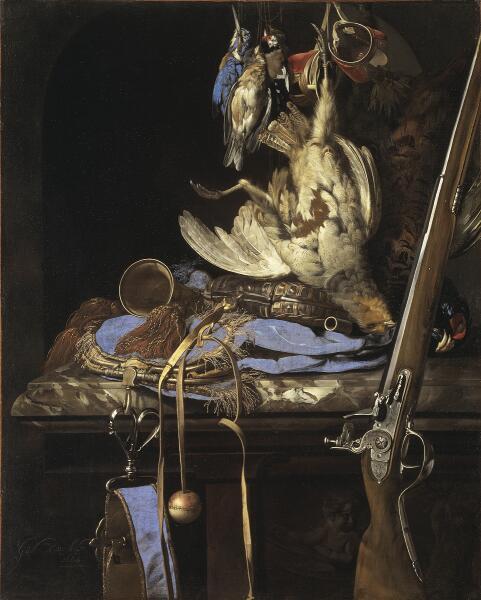 Виллем ван Алст, «Натюрморт с охотничьими принадлежностями», 1664г.
