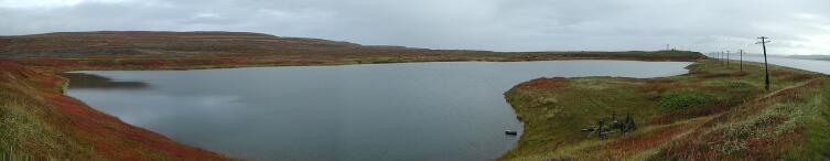 Панорама озера Могильное с западного берега