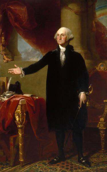 Гилберт Стюарт, «Джордж Вашингтон» 1796 г.