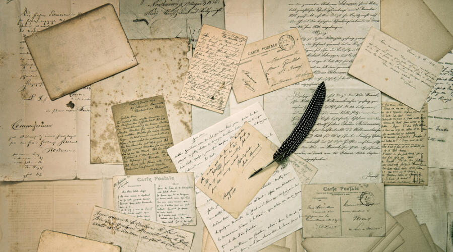 Как раньше писали письма?