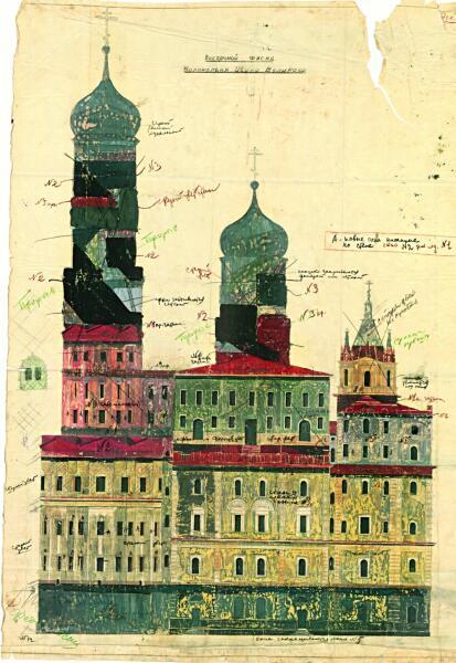 Макет маскировки колокольни Ивана Великого работы Б. М. Иофан