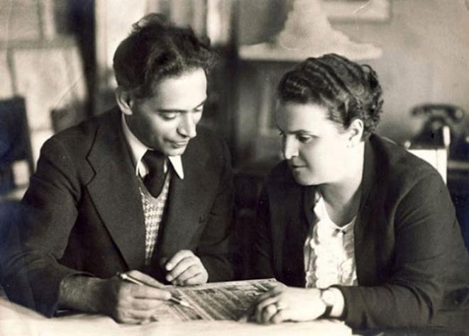 Борис Иофан и Вера Мухина