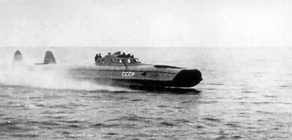 Первый боевой корабль на воздушной подушке, советский Л-5