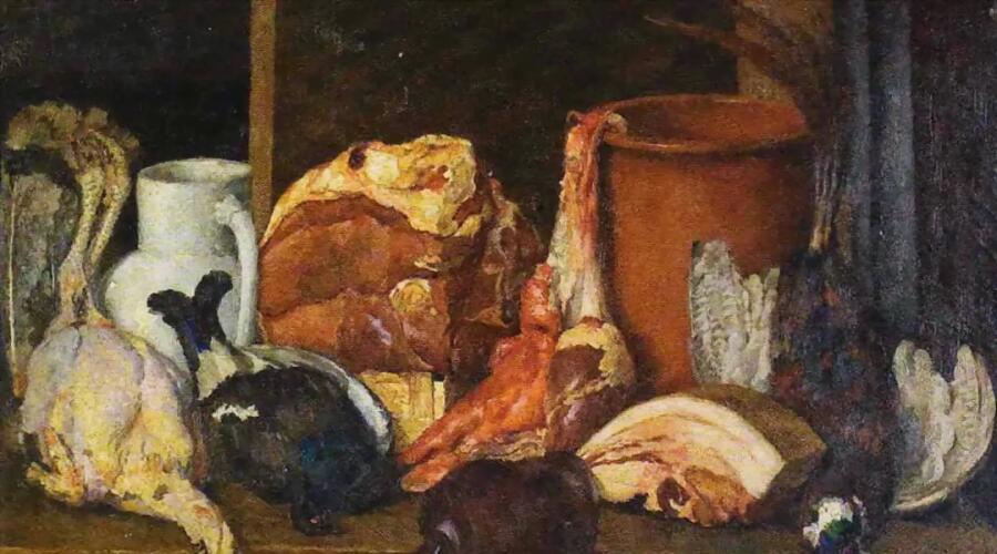И. И. Машков, «Снедь московская. Мясо, дичь», 1924 г.