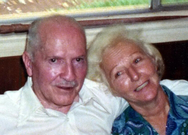 Роберт и Вирджиния Хайнлайн, Таити, 1980 г.