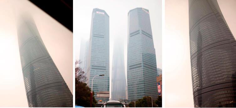 Шанхайская башня с разных ракурсов