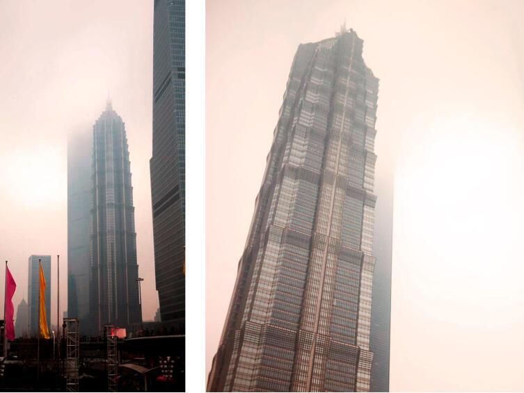 Башня Цзинь Мао с разных ракурсов