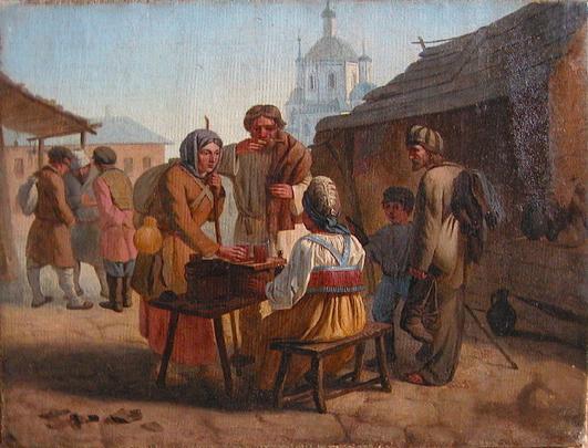 В. Е. Калистов, «Уличная торговля квасом», 1862 г.