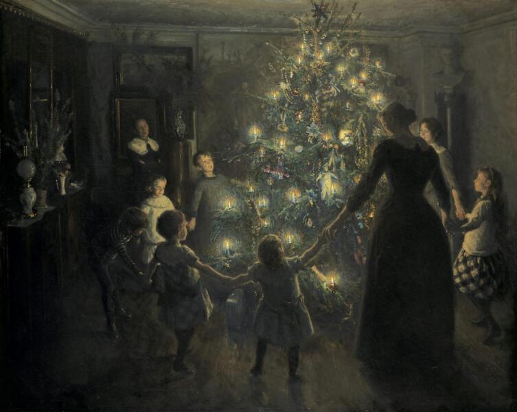 Вигго Юхансен, «Светлое Рождество», 1891 г.