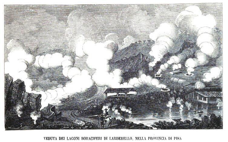 Панорама Лардерелло в 1868 г.