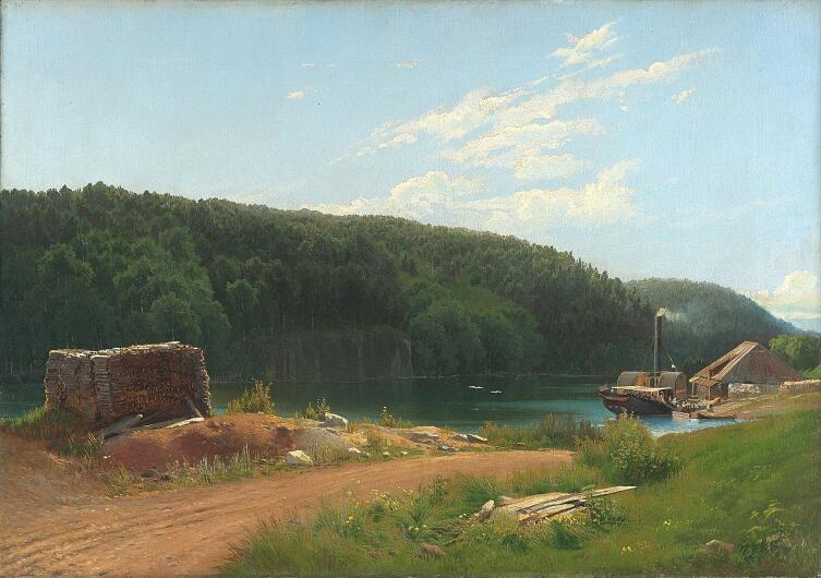 Ф. А. Васильев, «На острове Валааме», 1869 г.