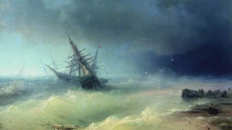 И. К. Айвазовский, «Буря», 1872 г.